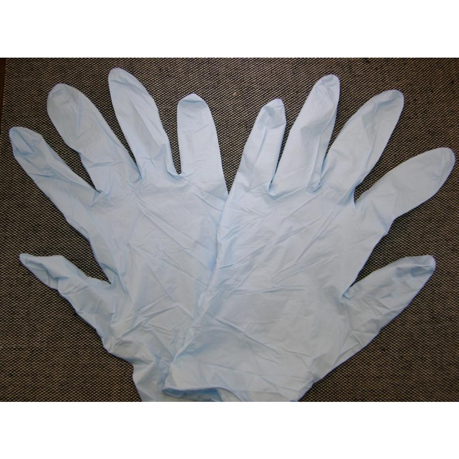 使い捨て手袋 業務用 安い 【ニトリル手袋 (L) 粉なし ブルー】300枚x10個/ケース showa-shokai 04