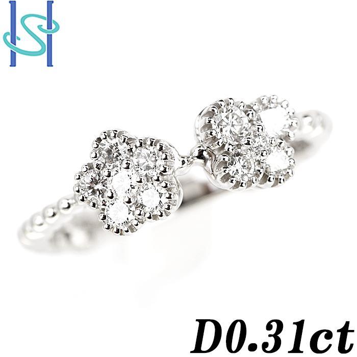 【SH55682】ダイヤモンド リング 0.31ct プラチナ900 花 フラワー 蝶 バタフライ パピヨン【新品】|sht-ys