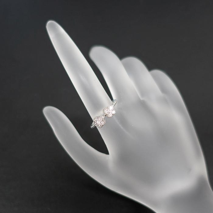 【SH55682】ダイヤモンド リング 0.31ct プラチナ900 花 フラワー 蝶 バタフライ パピヨン【新品】|sht-ys|05