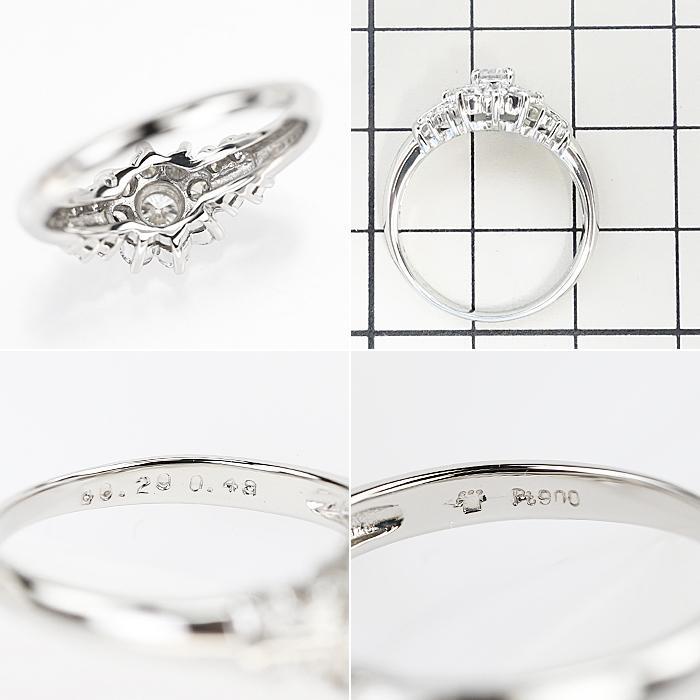 【SH55710】クレサンベール ダイヤモンド リング 0.20ct 0.48ct プラチナ900 花 フラワー【中古】|sht-ys|02