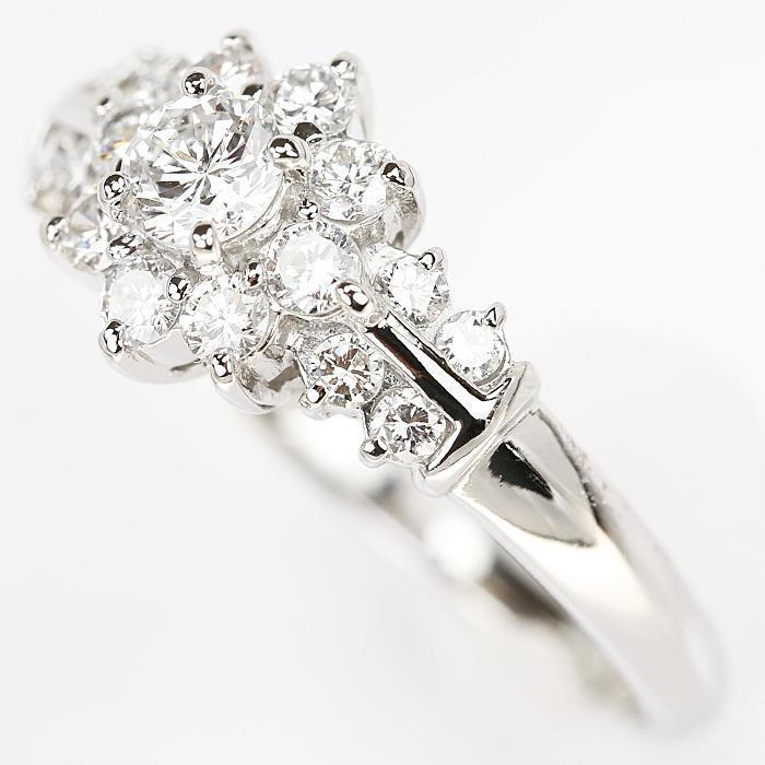 【SH55710】クレサンベール ダイヤモンド リング 0.20ct 0.48ct プラチナ900 花 フラワー【中古】|sht-ys|04