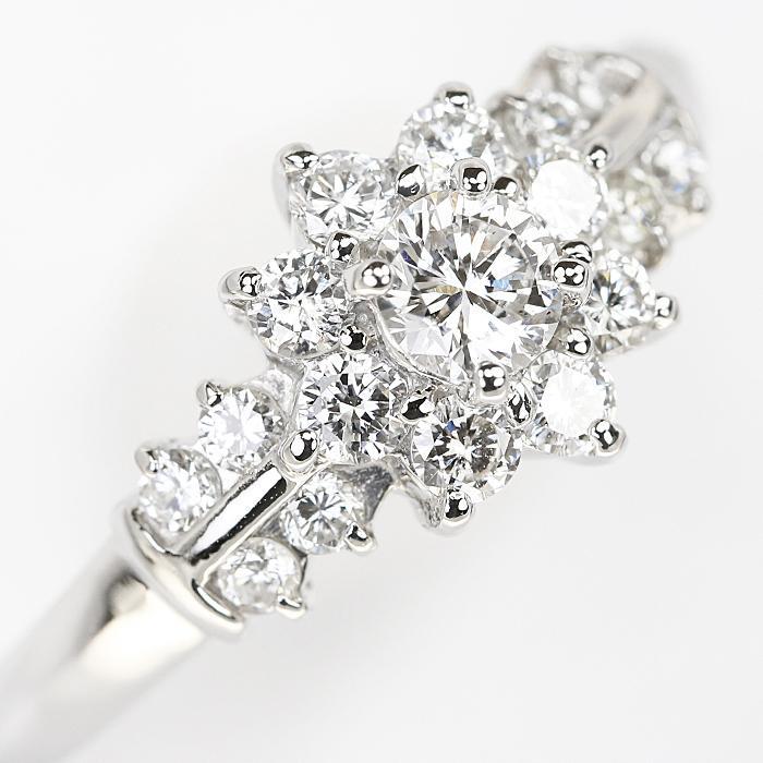 【SH55710】クレサンベール ダイヤモンド リング 0.20ct 0.48ct プラチナ900 花 フラワー【中古】|sht-ys|05