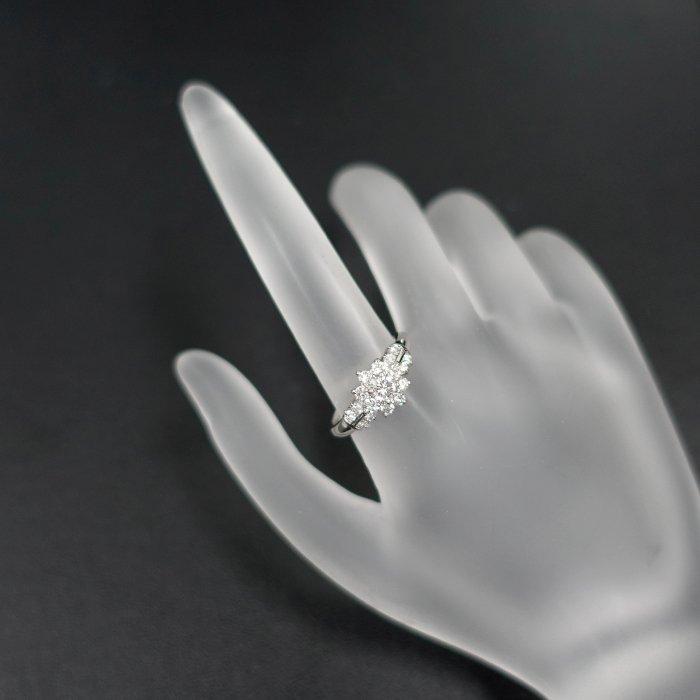 【SH55710】クレサンベール ダイヤモンド リング 0.20ct 0.48ct プラチナ900 花 フラワー【中古】|sht-ys|06