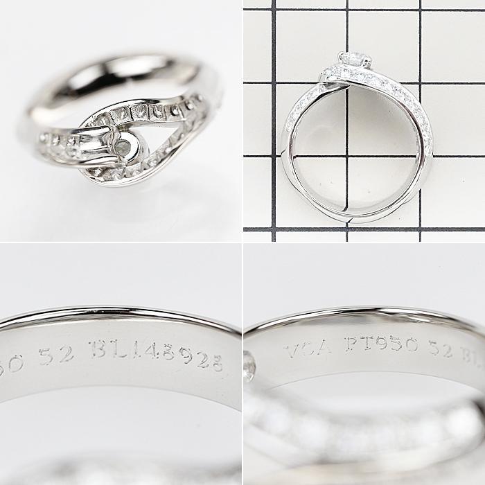 【SH56627】ヴァンクリーフ&アーペル ダイヤモンド リング 0.32ct D IF EX (N) Pt950 クチュール ソリティア【中古】|sht-ys|02