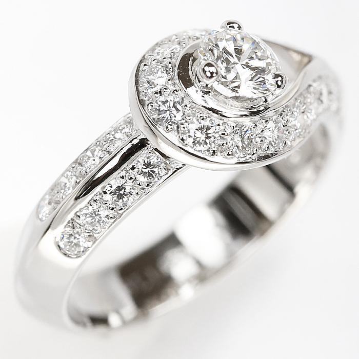 【SH56627】ヴァンクリーフ&アーペル ダイヤモンド リング 0.32ct D IF EX (N) Pt950 クチュール ソリティア【中古】|sht-ys|06