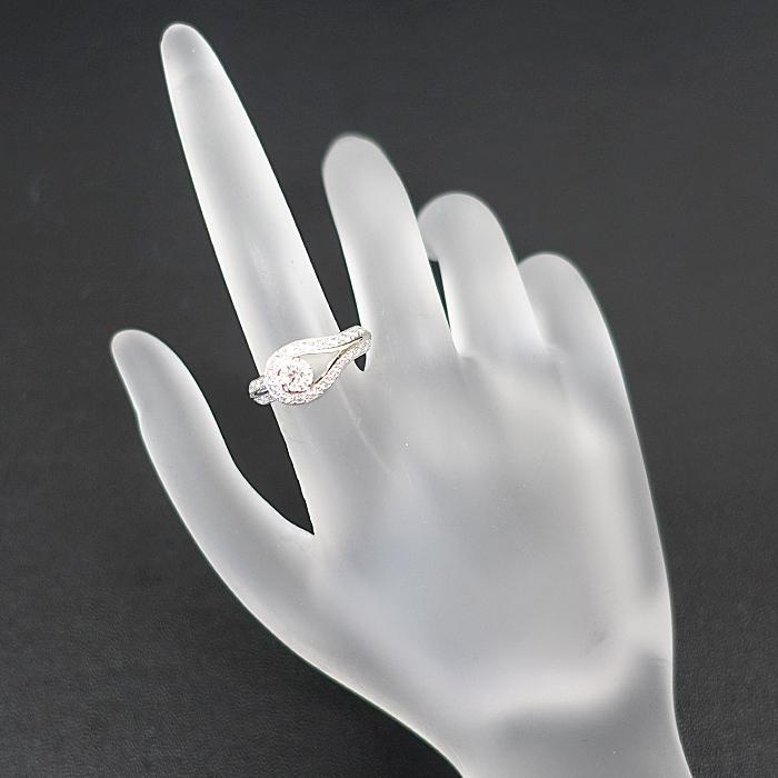 【SH56627】ヴァンクリーフ&アーペル ダイヤモンド リング 0.32ct D IF EX (N) Pt950 クチュール ソリティア【中古】|sht-ys|08