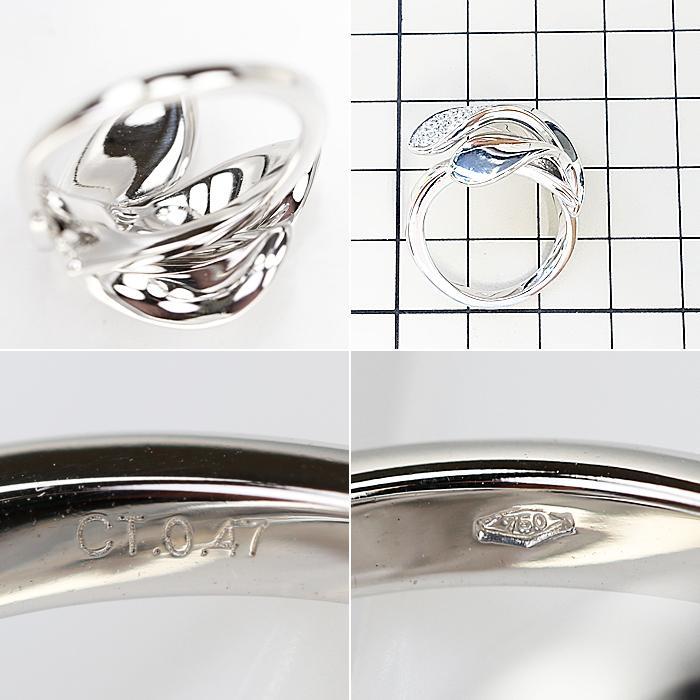【SH58120】ジョルジオ ヴィスコンティ ダイヤモンド リング 0.47ct K18 ホワイトゴールド GIORGIO VISCONTI【中古】|sht-ys|02