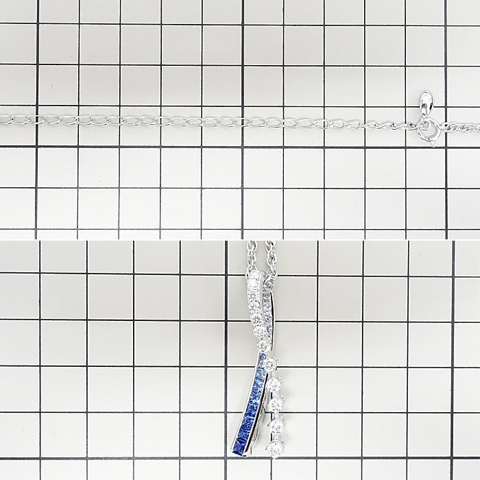 【SH59192】ジュネ サファイア ネックレス 1.50ct D0.80ct K18 ホワイトゴールド Jeunet【中古】|sht-ys|02