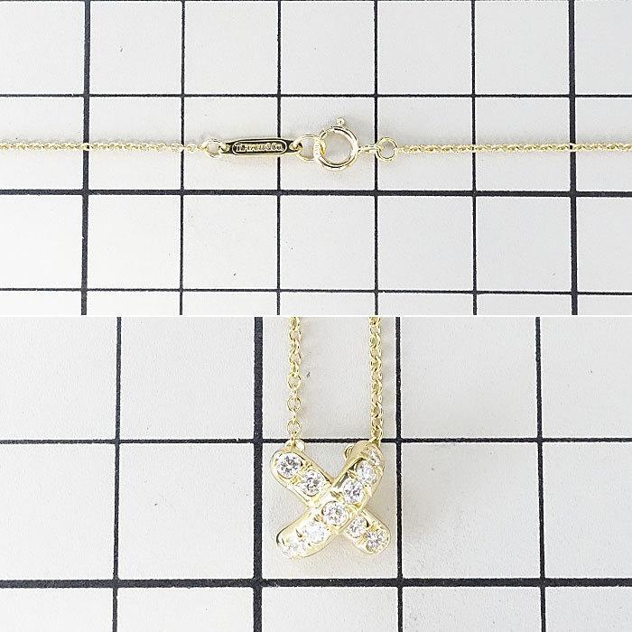 【SH59201】ティファニー ダイヤモンド ネックレス K18 イエローゴールド シグネチャー TIFFANY&Co.【中古】|sht-ys|02