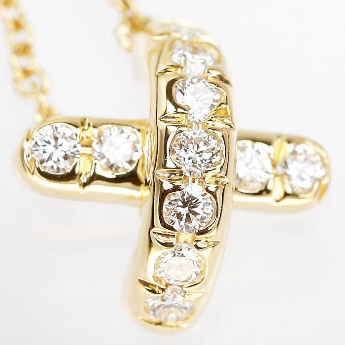 【SH59201】ティファニー ダイヤモンド ネックレス K18 イエローゴールド シグネチャー TIFFANY&Co.【中古】|sht-ys|04