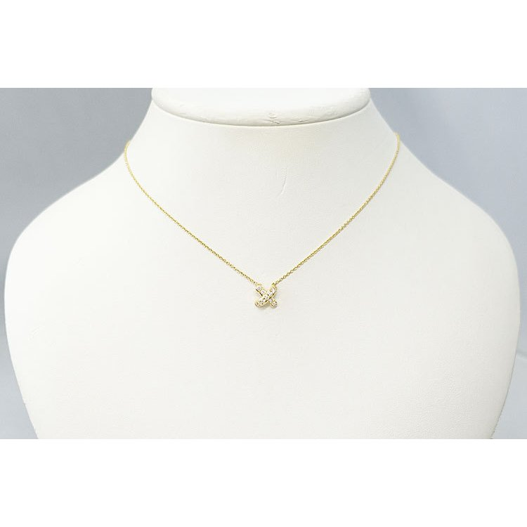 【SH59201】ティファニー ダイヤモンド ネックレス K18 イエローゴールド シグネチャー TIFFANY&Co.【中古】|sht-ys|05