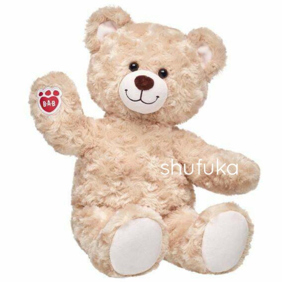 ビルドアベア ハッピーハグ テディベア ぬいぐるみ クマ 40cm クリーム 出生証明書付き ライトブラウン くま Happy Hugs Teddy Build A Bear|shu-fu-ka