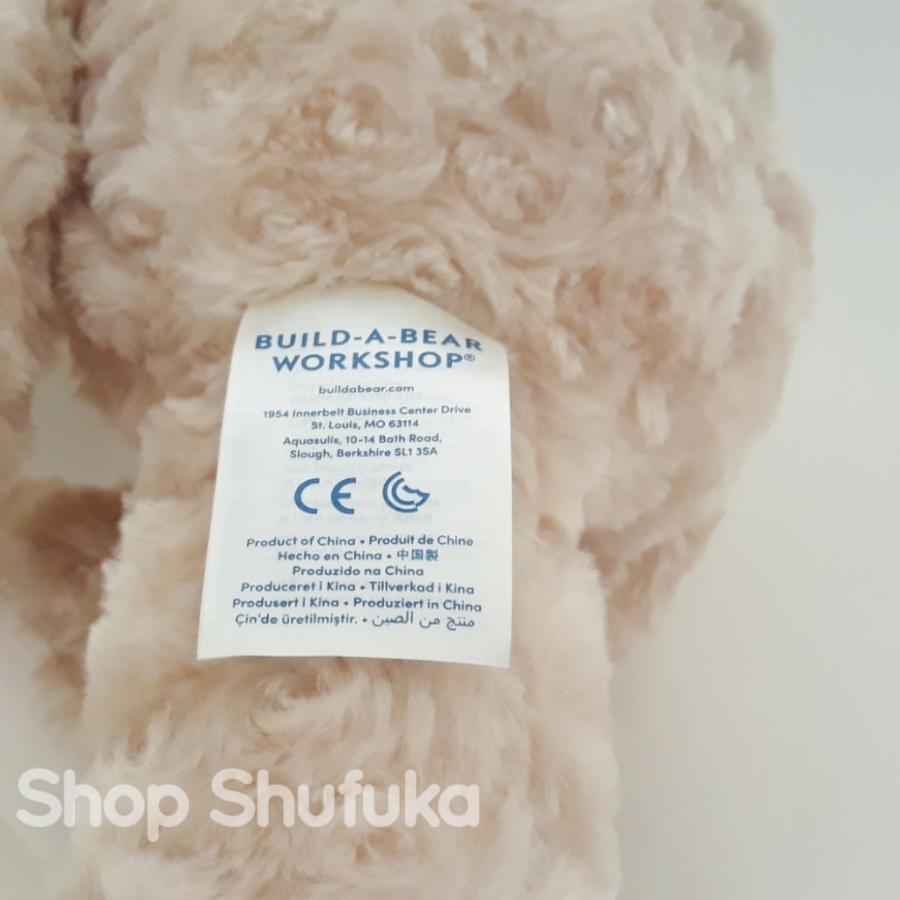 ビルドアベア ハッピーハグ テディベア ぬいぐるみ クマ 40cm クリーム 出生証明書付き ライトブラウン くま Happy Hugs Teddy Build A Bear|shu-fu-ka|05