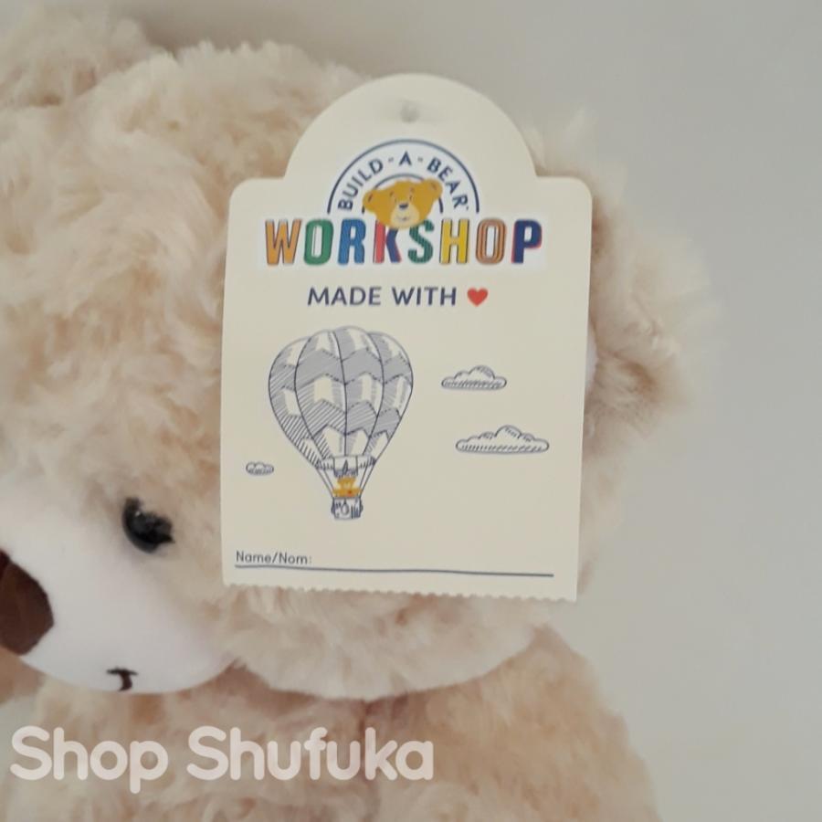 ビルドアベア ハッピーハグ テディベア ぬいぐるみ クマ 40cm クリーム 出生証明書付き ライトブラウン くま Happy Hugs Teddy Build A Bear|shu-fu-ka|06