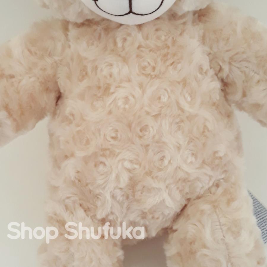 ビルドアベア ハッピーハグ テディベア ぬいぐるみ クマ 40cm クリーム 出生証明書付き ライトブラウン くま Happy Hugs Teddy Build A Bear|shu-fu-ka|07