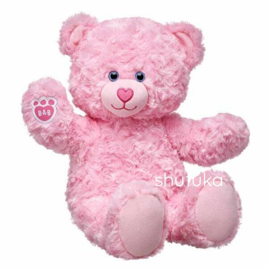 ビルドアベア テディベア ぬいぐるみ ピンク クマ Pink Cuddles Teddy 40cm 出生証明書付き 日本未発売 アメリカ購入 Build A Bear Work Shop shu-fu-ka