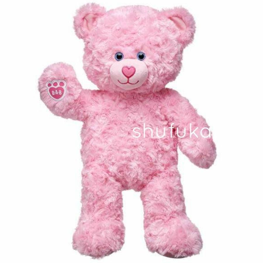 ビルドアベア テディベア ぬいぐるみ ピンク クマ Pink Cuddles Teddy 40cm 出生証明書付き 日本未発売 アメリカ購入 Build A Bear Work Shop shu-fu-ka 02