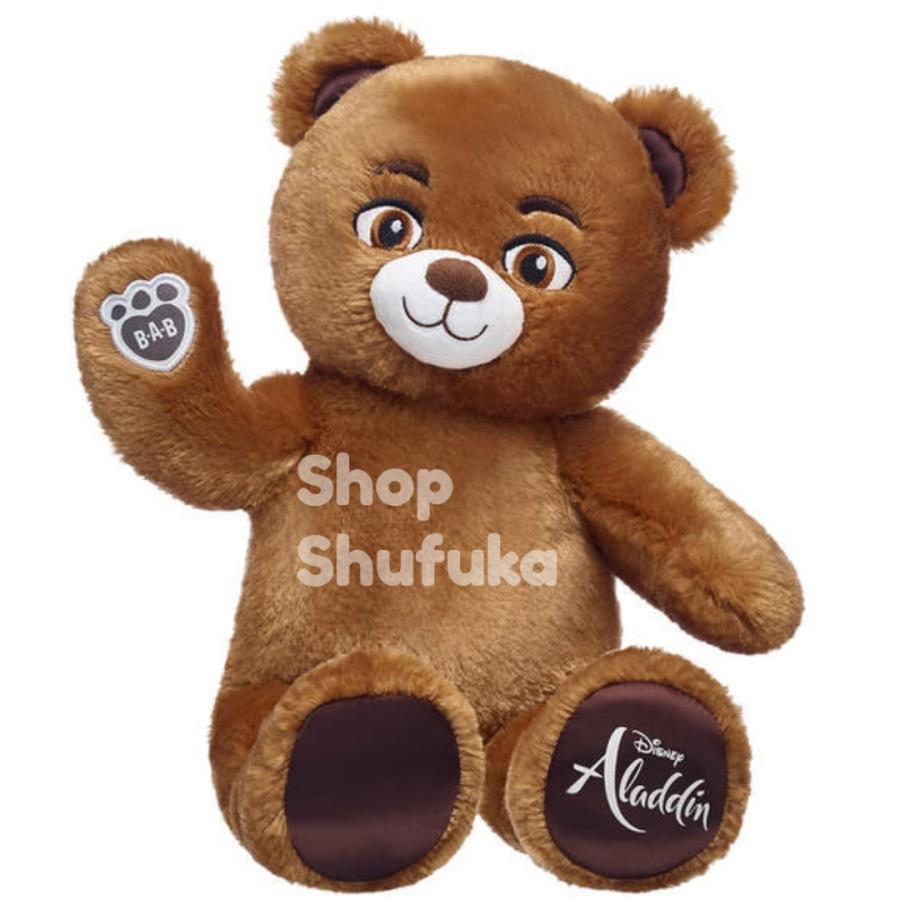 ビルドアベア アラジン ぬいぐるみ ディズニー 40cm 茶色 ブラウン 日本未発売  Build A Bear Work Shop Disney Aladdin Inspired Bear shu-fu-ka