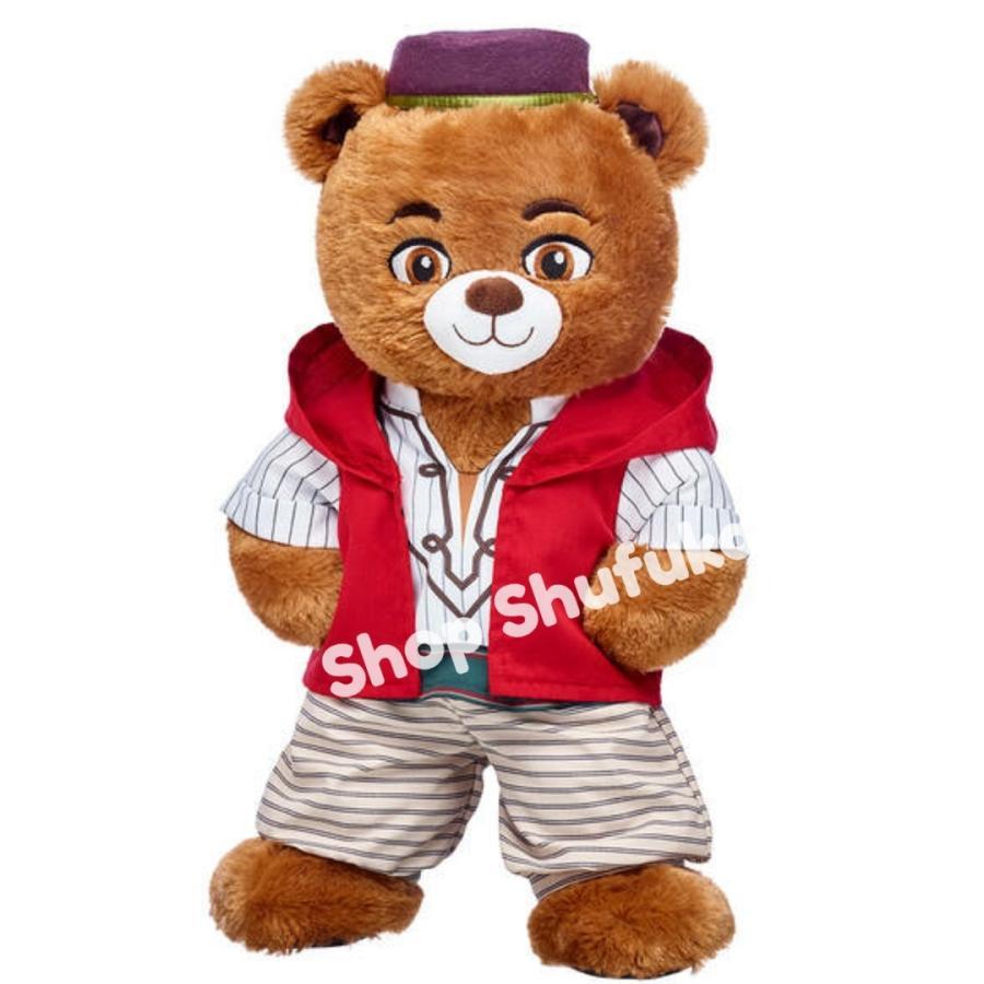 ビルドアベア アラジン ぬいぐるみ ディズニー 40cm 茶色 ブラウン 日本未発売  Build A Bear Work Shop Disney Aladdin Inspired Bear shu-fu-ka 02