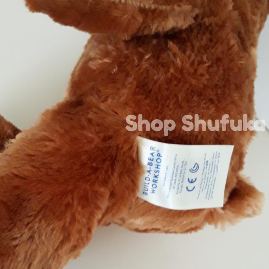 ビルドアベア アラジン ぬいぐるみ ディズニー 40cm 茶色 ブラウン 日本未発売  Build A Bear Work Shop Disney Aladdin Inspired Bear shu-fu-ka 06
