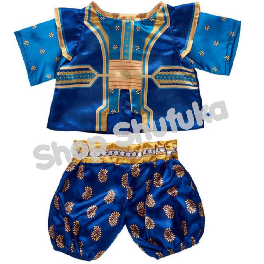 ビルドアベア ディズニー アラジン ジーニー コスチューム ダッフィー テディベア くま ぬいぐるみ用 青 衣装 仮装 ハロウィン Build A Bear|shu-fu-ka