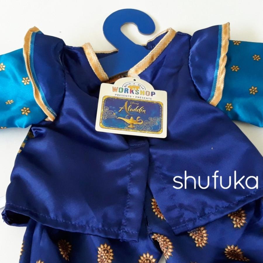 ビルドアベア ディズニー アラジン ジーニー コスチューム ダッフィー テディベア くま ぬいぐるみ用 青 衣装 仮装 ハロウィン Build A Bear|shu-fu-ka|05