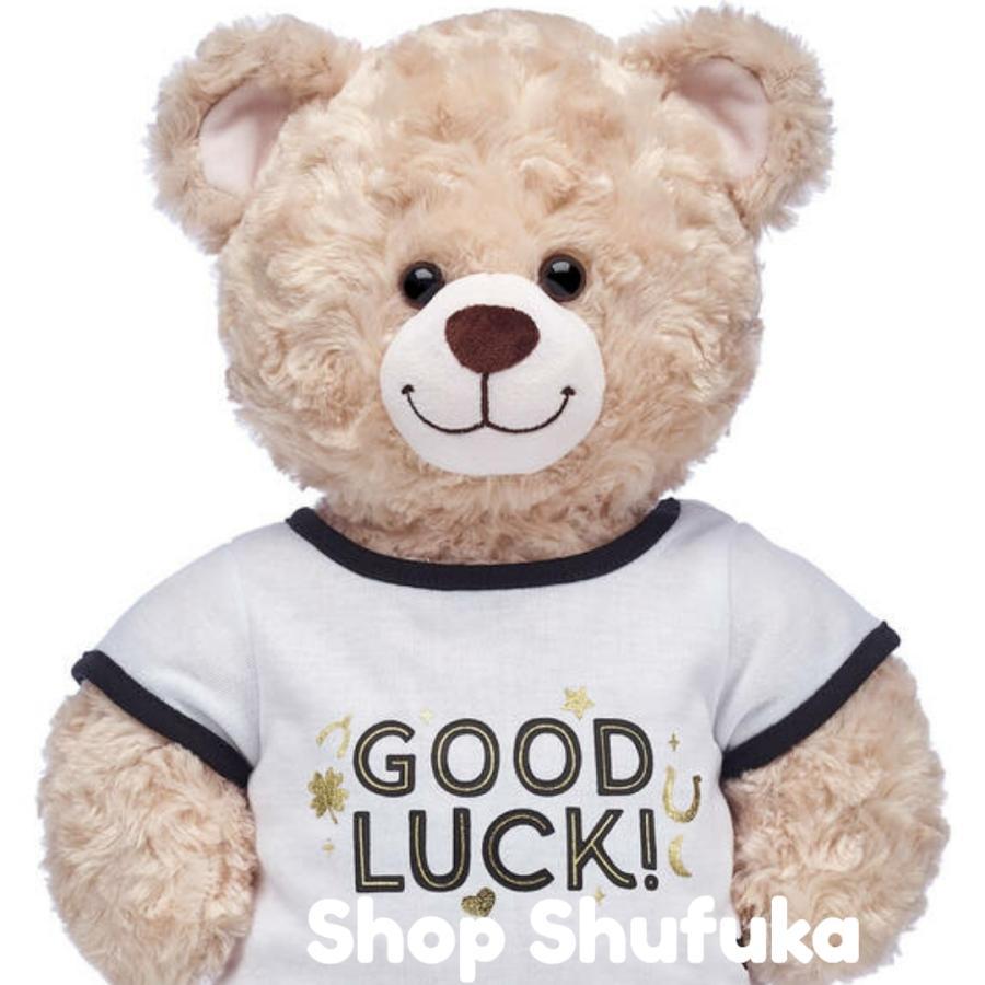 ビルドアベア 半袖Tシャツ GOOD LUCK グッドラック ぬいぐるみ テディベア ダッフィー シェリーメイ くま 洋服 白 トップス Build A Bear|shu-fu-ka|02