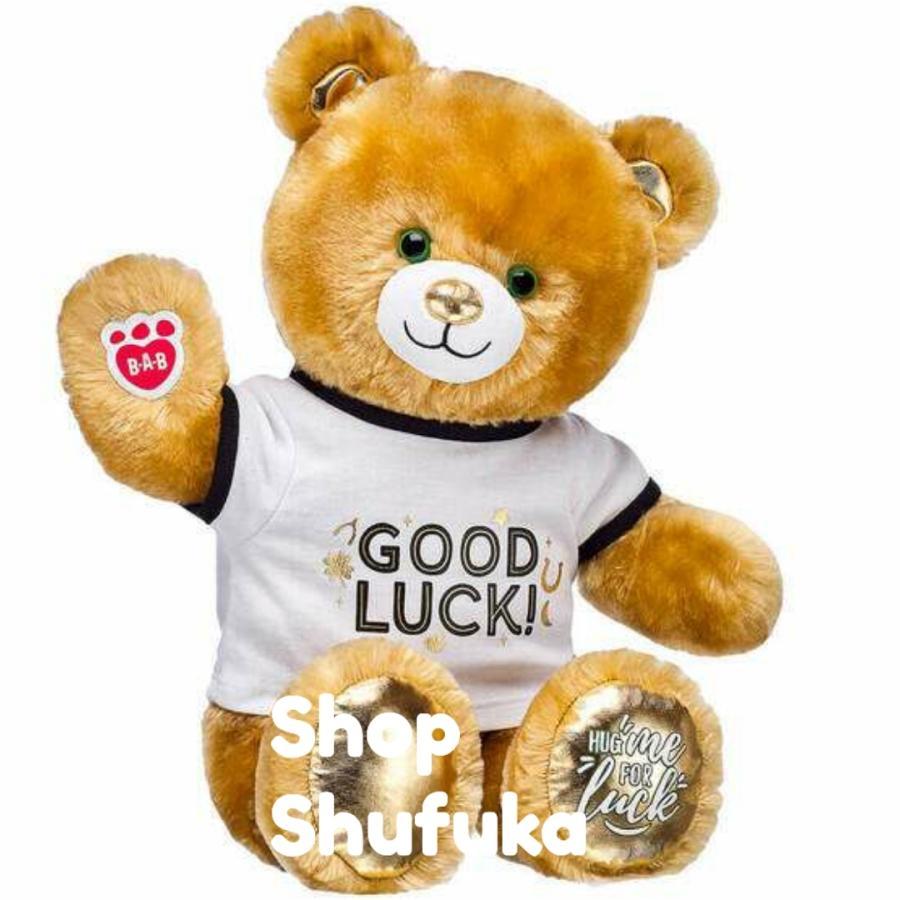 ビルドアベア 半袖Tシャツ GOOD LUCK グッドラック ぬいぐるみ テディベア ダッフィー シェリーメイ くま 洋服 白 トップス Build A Bear|shu-fu-ka|03