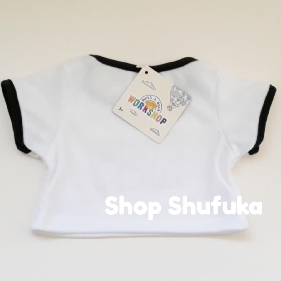 ビルドアベア 半袖Tシャツ GOOD LUCK グッドラック ぬいぐるみ テディベア ダッフィー シェリーメイ くま 洋服 白 トップス Build A Bear|shu-fu-ka|05