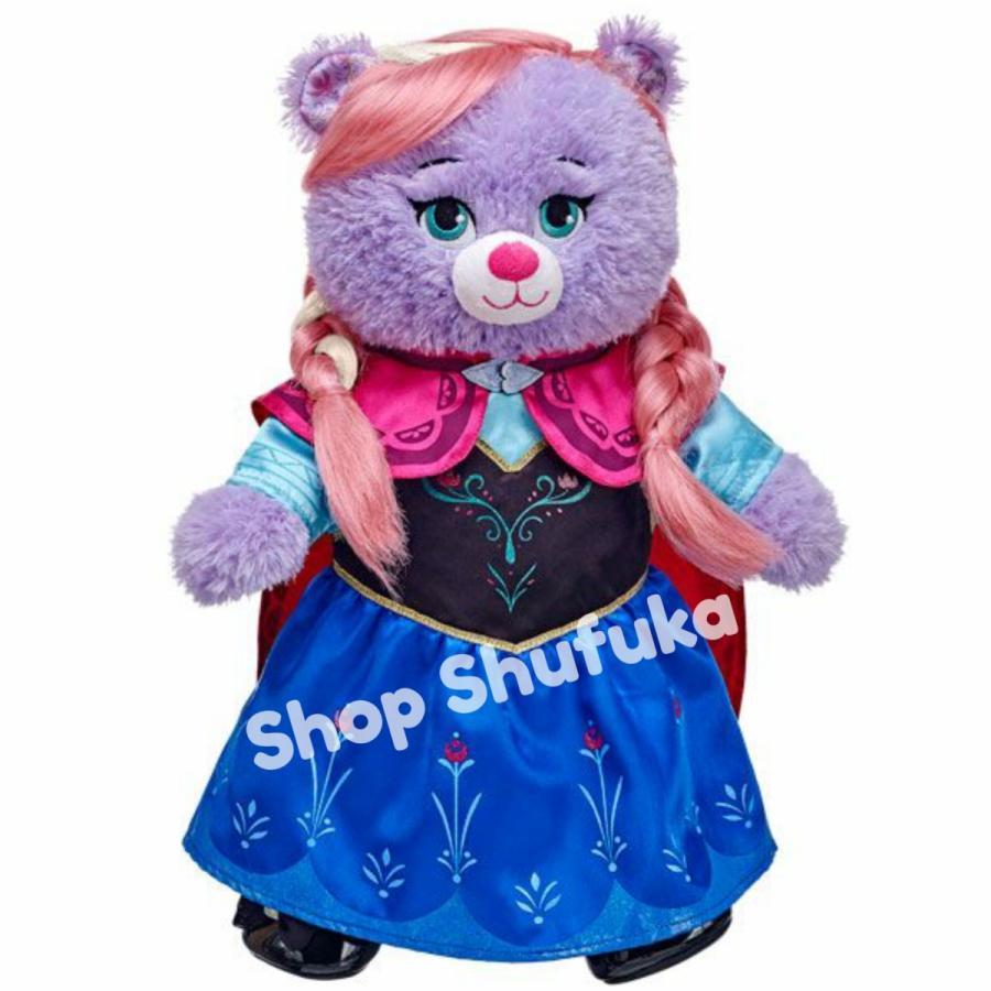 ビルドアベア アナと雪の女王 アナ ドレス コスチューム テディベアぬいぐるみ 衣装 コスプレ シェリーメイ ディズニー Build A Bear Work Shop shu-fu-ka 02