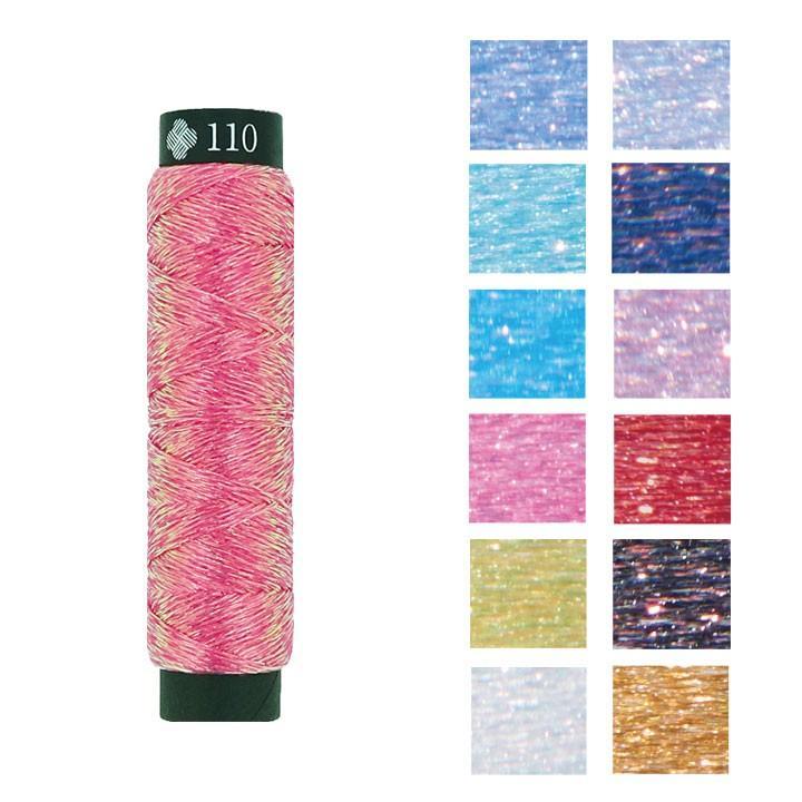 日本産 今だけ限定15%OFFクーポン発行中 刺繍 刺しゅう糸 COSMO にしきいと 玉虫 きらきら 手作り たすき撚り クリスマス ラメ糸