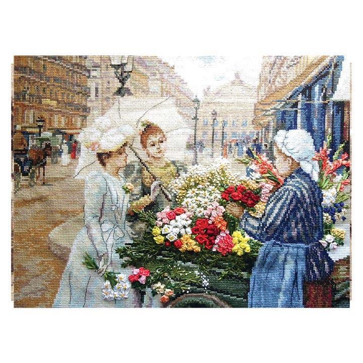 刺繍 PANNA Parisians パリジャン パリの花売り|VH-1404 花売り娘 ...