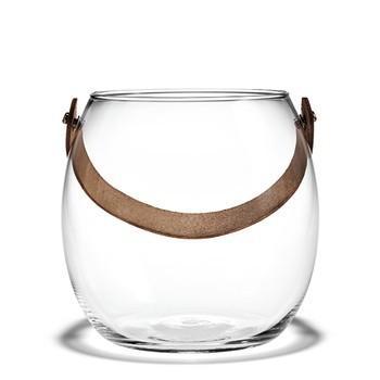 在庫限り20%オフ HOLMEGAARD レザーハンドル付ガラスポット H16cm shuno-su