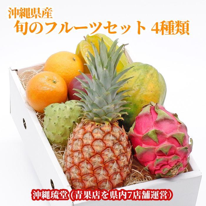 沖縄産 旬のフルーツセット モデル着用&注目アイテム 4種類 詰め合わせ 年中無休
