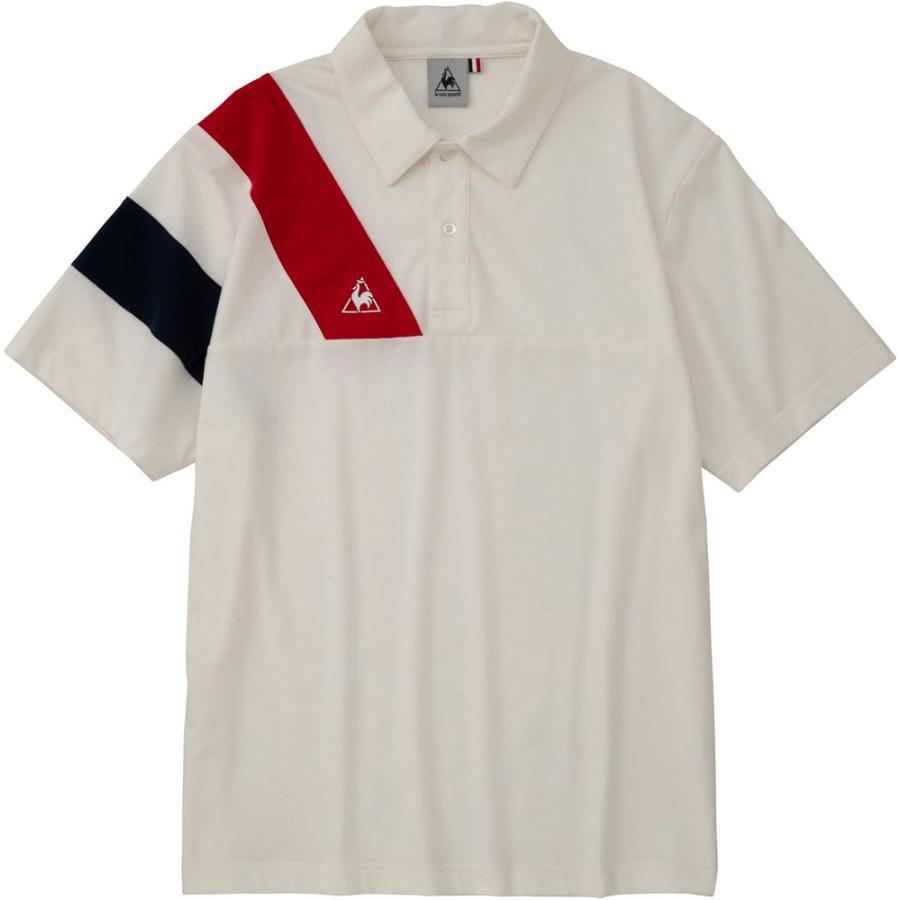 le coq sportif ルコック 襟付き半袖シャツ QLMPJA42 ホワイト