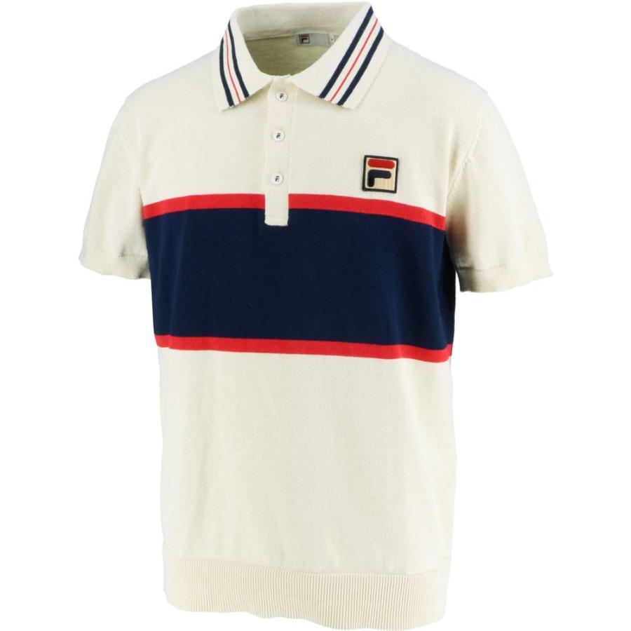FILA フィラ ポロシャツ メンズ VM5438 アイボリー
