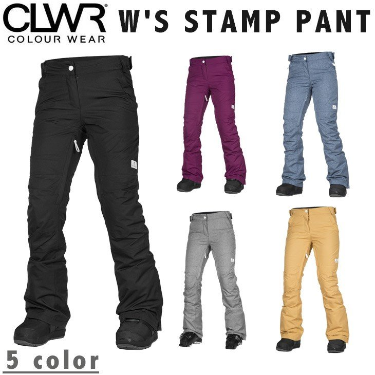COLOUR WEAR 17-18 W'S STAMP PANT カラーウェア CLWR スノーボード ウエア ウェアー カラー