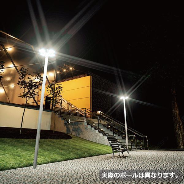 ソーラーLED照明 街路灯 外灯 ガーデンライト 20W 高さ285cm ポール 暖色 円盤型 オート減光 屋外 自宅 庭 駐車場 一体型 防水 防犯灯 常夜灯 庭園灯|sigen-shop|09