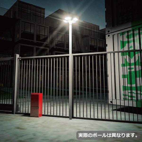 ソーラーLED照明 街路灯 外灯 ガーデンライト 20W 高さ285cm ポール 暖色 円盤型 オート減光 屋外 自宅 庭 駐車場 一体型 防水 防犯灯 常夜灯 庭園灯|sigen-shop|10