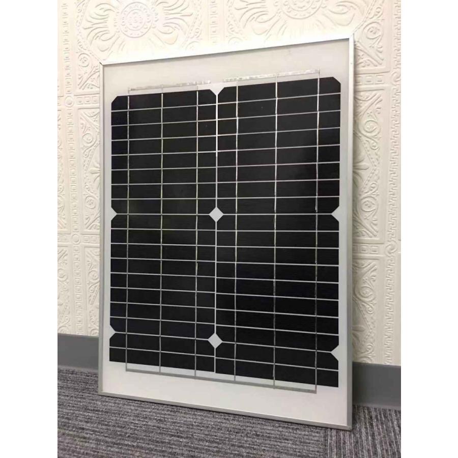 ソーラーパネル 20W 単結晶シリコン 太陽光発電 ソーラーチャージャー 蓄電 充電 自家発電 太陽光パネル ソーラー充電器 18V 高発電効率 防災 停電対策 sigen-shop