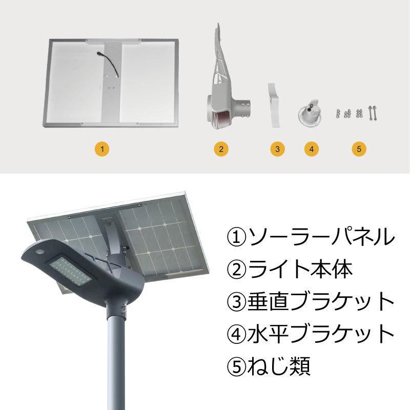 高輝度 50W 4500-5000lm LED ソーラー LED 街路灯 照明 人感センサー スマホ連動 SPARTAN-6050|sigen-shop|03