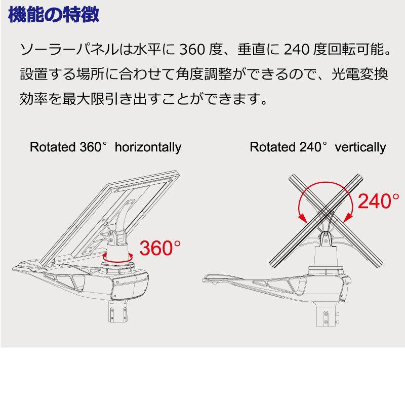 高輝度 50W 4500-5000lm LED ソーラー LED 街路灯 照明 人感センサー スマホ連動 SPARTAN-6050|sigen-shop|04
