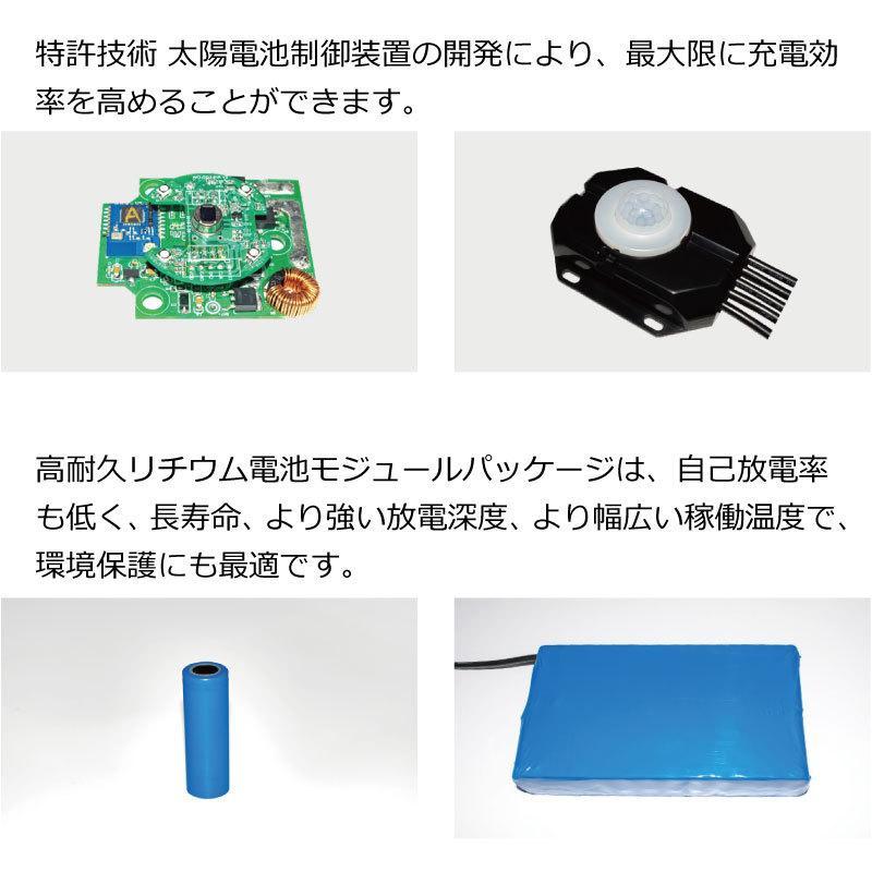 高輝度 50W 4500-5000lm LED ソーラー LED 街路灯 照明 人感センサー スマホ連動 SPARTAN-6050|sigen-shop|06