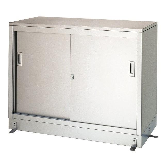 シンコー保管庫〈ベース付〉 間口1500×奥行450(ステンレス戸)1段式【L-15045】