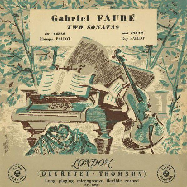 <中古LPレコード>フォーレ:チェロ·ソナタ1番Op.109,2番Op.117