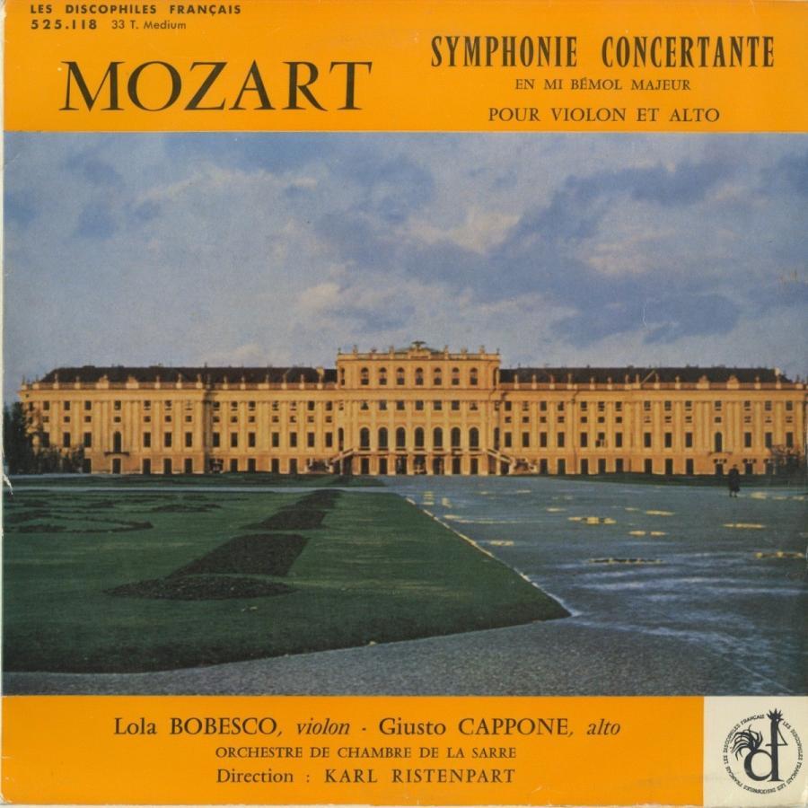 <中古LPレコード>モーツァルト:協奏交響曲K.364