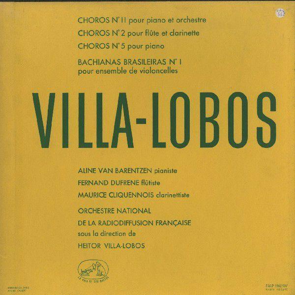 <中古LPレコード>ヴィラ·ロボス:ショーロ2,5,11番,バキアナ·ブラジレイラ1番