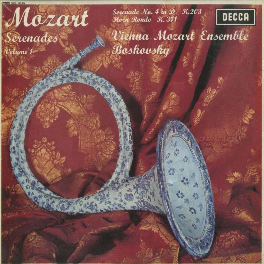 <中古クラシックLPレコード>モーツァルト:セレナーデ·ディヴェルティメント集Vol.1·9/W.ボスコフスキー指揮/英DECCA:SXL 6330·
