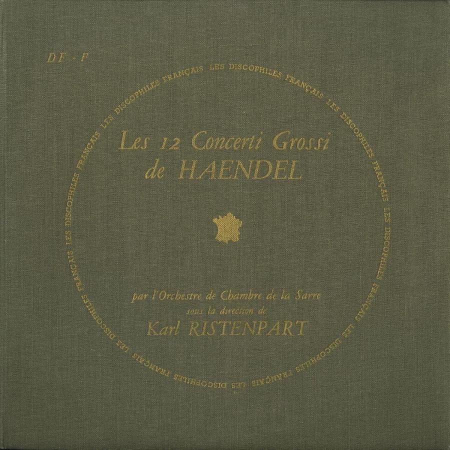 <中古クラシックLPレコード>ヘンデル:合奏協奏曲Op.6(全12曲)/K.リステンパルト指揮ザール室内o./仏DF:DF 89·