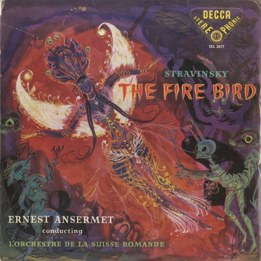 <中古クラシックLPレコード>ストラヴィンスキー:火の鳥/E.アンセルメ指揮スイス·ロマンドo./英DECCA:SXL 2017